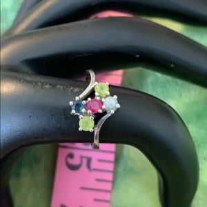 Size 7 10k real white gold ring